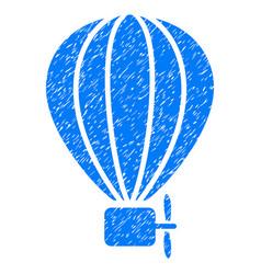 Air balloon grunge icon vector