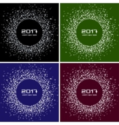 Bright confetti new year circle backgrounds vector