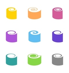 Colorful sushi icons vector
