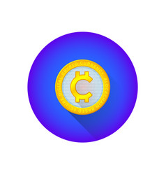 cryptocurrency global symbol icon vector image vector image