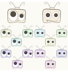 cute monitor vector image