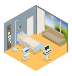 Flat 3d isometric interior of vector
