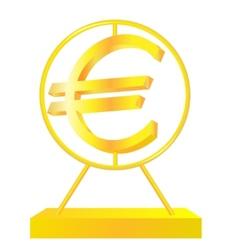 Golden Euro sign vector image vector image