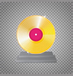 golden vinyl lp gold template design element vector image vector image