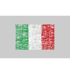 Italy flag design concept vector image vector image