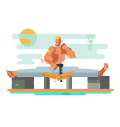 karate character in the splits vector image vector image
