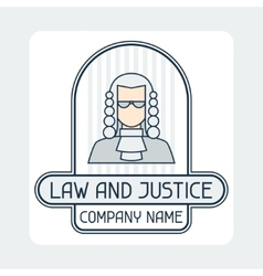Law and justice company name concept emblem vector image