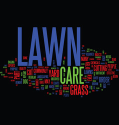 Lawn care faq text background word cloud concept vector