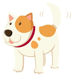 Little dog wagging the tail vector