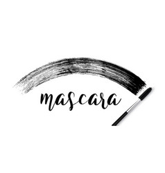 make-up cosmetic mascara brush stroke on white vector image vector image