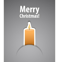 Merry christmas background with candle vector