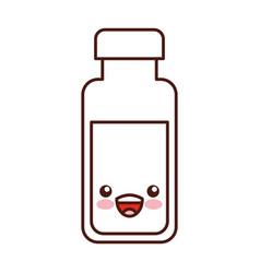 milk bottle kawaii character vector image vector image