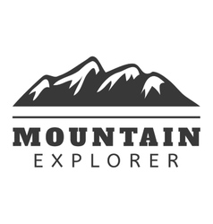 Mountain icon badge vector