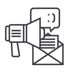promotionadvertisingloudspeaker line icon vector image vector image