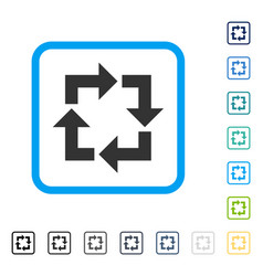 recycle framed icon vector image vector image