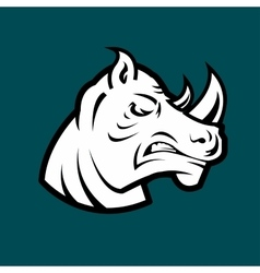 Rhino head mascot vector