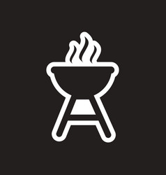 Stylish black and white icon american barbecues vector
