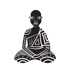 Thai monk icon in simple style vector