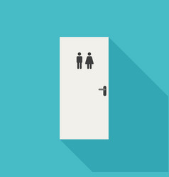 toilet door icon vector image