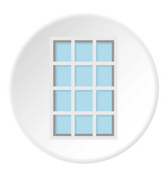white latticed rectangle window icon circle vector image