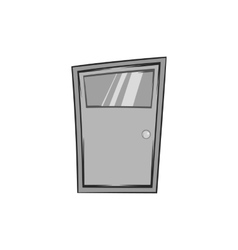 Kitchen door icon black monochrome style vector image