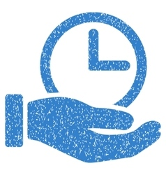 Time service hand grainy texture icon vector