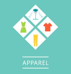Apparel shop icon set in flat design vector