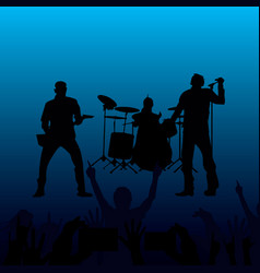 Band of performing musicians vector