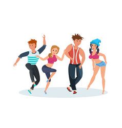 Dances popular popular youth dances hip hop vector