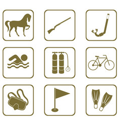 Set of sport equipment icons vector