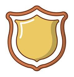 medieval shield icon cartoon style vector image