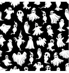 Halloween spooky party ghost pattern vector