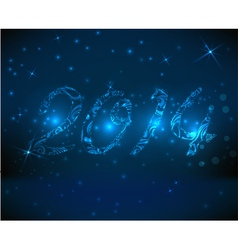 2014 blue background vector image vector image