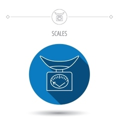 Scales icon kitchen weighing tool sign vector