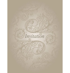 Invitation template with abstract floral pattern vector