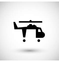 Cargo helicopter icon vector