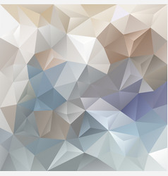 Abstract blue and beige polygon background vector
