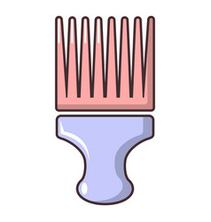 Afro comb icon cartoon style vector