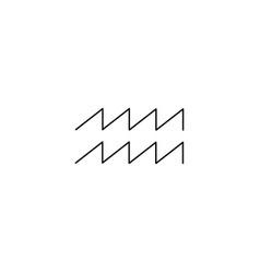 aquarius line icon vector image