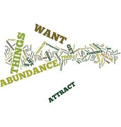 Attract abundance text background word cloud vector