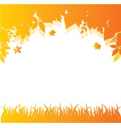 autumn back orange vector image