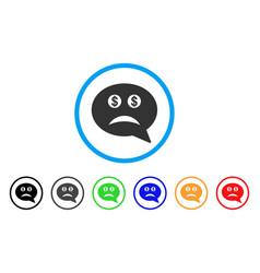 Bankrupt smiley message icon vector