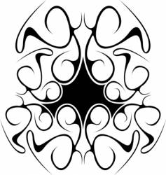 black abstract tribal design vector image vector image