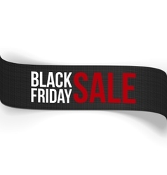 Black Friday Sale curved Ribbon vector image
