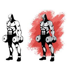 bodybuilder in two variants vector image