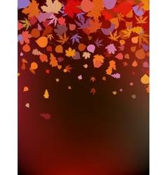 Brown autumnal background vector