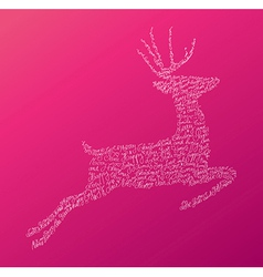 Christmas text jumping reindeer composition eps10 vector
