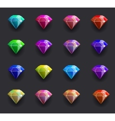 Colored diamond shiny vector image vector image