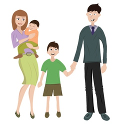 family with two childs vector image vector image