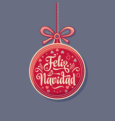 Feliz navidad greeting card in spain vector
